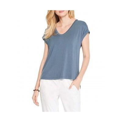 NIC+ZOE ニックアンドゾー レディース 女性用 ファッション Tシャツ Eaze V Tee - Slate