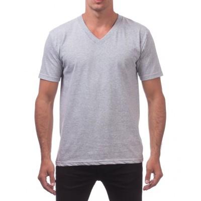 プロクラブ Tシャツ メンズ 正規販売店 PROCLUB 半袖Tシャツ VネックTシャツ COMFORT SHORT SLEEVE V-NECK TEE HEATHER GREY #106