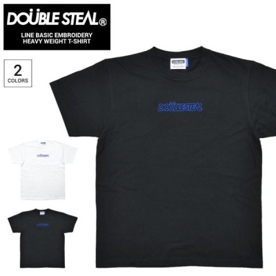 DOUBLE STEAL ダブルスティール Tシャツ LINE BASIC EMBROIDERY HEAVY WEIGHT T-SHIRT TEE カットソー 902-12008 単品購入の場合はネコポス便発送