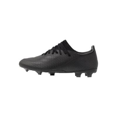 アディダス ブーツ&レインブーツ メンズ シューズ X GHOSTED.3 FOOTBALL BOOTS FIRM GROUND - Moulded stud football boots - core black/grey six