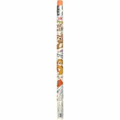 チップ&デール 鉛筆 消しゴム付き 2B えんぴつ ハピネスタイム ディズニー 2020年 新入学新学期準備 キャラクター グッズ メール便可