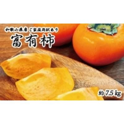 【ご家庭用わけあり】和歌山秋の味覚 富有柿 約7.5kg※2021年11月上旬より順次発送(お届け日指定不可)