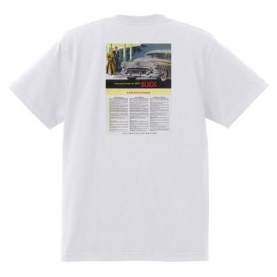 アドバタイジング ビュイック 309 白 Tシャツ 黒地へ変更可能  1952 スーパー リビエラ センチュリー ロードマスター オールディーズ