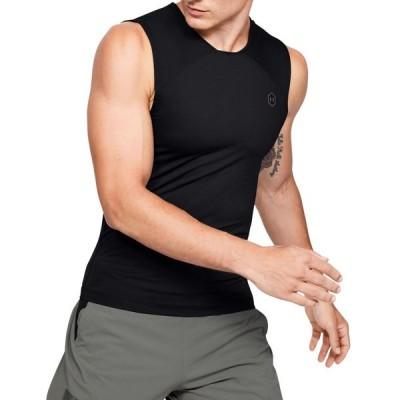 アンダーアーマー Under Armour メンズ Tシャツ トップス RUSH HeatGear Compression T-Shirt Black/Black