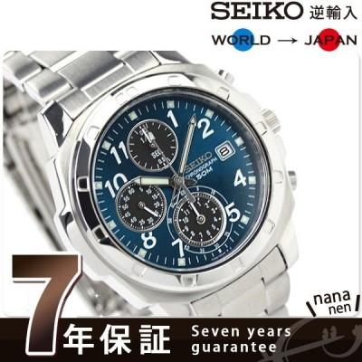 セイコー クロノグラフ 逆輸入 海外モデル SND193P1 (SND193P) メンズ 腕時計