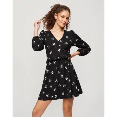 ミス セルフリッジ Miss Selfridge レディース ワンピース ワンピース・ドレス Fit And Flare Dress In Black Floral ブラック
