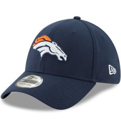 ニューエラ メンズ 帽子 アクセサリー Denver Broncos New Era 39THIRTY Flex Team Classic Hat Navy