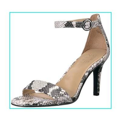 Naturalizer Women's Kinsley Heeled Sandal, Alabaster Snake, 8.5 W US【並行輸入品】