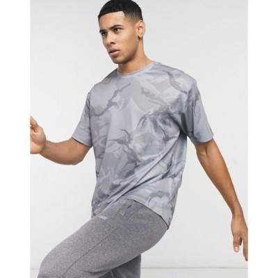 エイソス メンズ シャツ トップス ASOS 4505 easy fit workout T-shirt with camo print