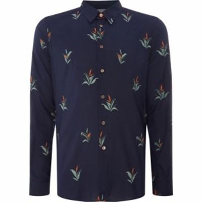 ポールスミス PS Paul Smith メンズ トップス ボタニカル柄 Leaf Print Shirt Dark Navy