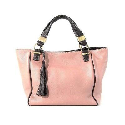 【中古】アナイ ANAYI ハンドバッグ トート 2WAY レザー タッセル付き ピンク 鞄 レディース 【ベクトル 古着】