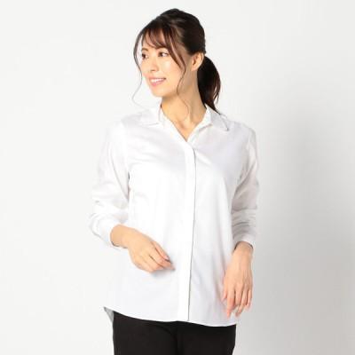 レディース 【在庫限り】イージーケアスキッパーシャツ 白 S