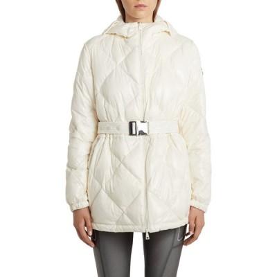 モンクレール MONCLER レディース ダウン・中綿ジャケット アウター Sargas Belted Water Resistant Down Puffer Coat White