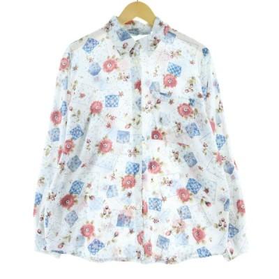 CABIN CREEK ポリコットンシャツ USA製 レディースL /eaa074116