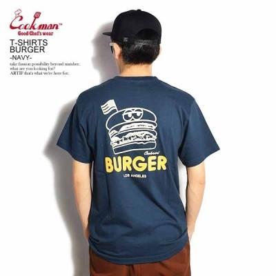 COOKMAN クックマン 半袖 Tシャツ Tshirts BURGER NAVY メンズ レディース 男女兼用 おしゃれ
