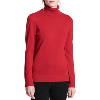カルバンクライン レディース ニット・セーター アウター Fine Gauge Turtleneck Sweater