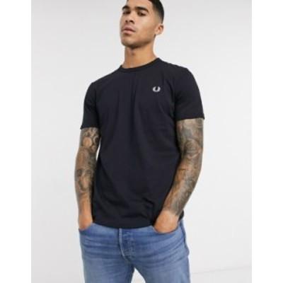 フレッドペリー メンズ シャツ トップス Fred Perry ringer t-shirt in navy Navy