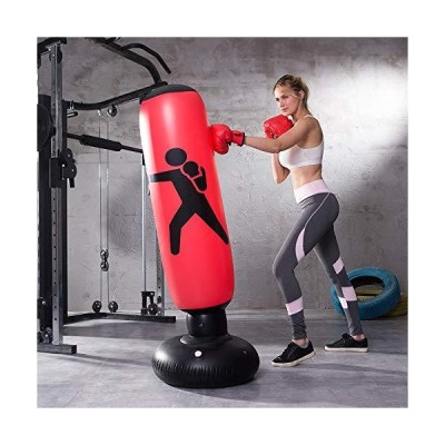MYYAGEW Free Standing Water Base Pump Inflatable Punching BagFree Standing