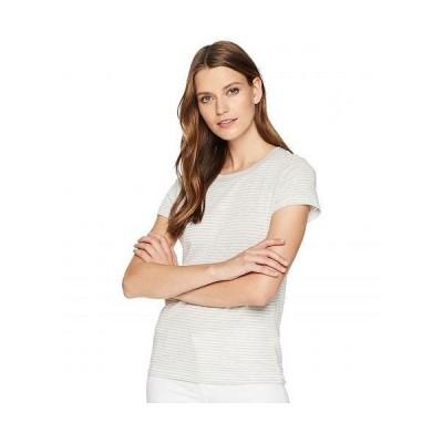 Alternative オルタネイティブ レディース 女性用 ファッション Tシャツ Ideal Tee - Eco Oatmeal Classic Stripe
