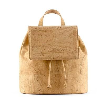 Corkor Cork Backpack - Vegan Handbag For Women Top Flap Back Pack Travel School Natural 並行輸入品