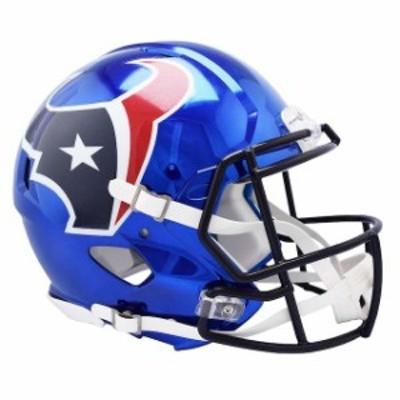 Riddell リデル スポーツ用品  Fanatics Authentic Riddell Houston Texans Chrome Alternate Speed Full-Size Pro-Line Footba
