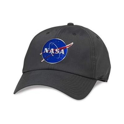 AMERICAN NEEDLE NASA カジュアルベースボールダッドバックルストラップハット(44930A-NASA-BLK) ブラック