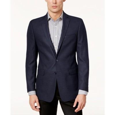 カルバンクライン ジャケット&ブルゾン アウター メンズ Men's Slim-Fit Textured Sport Coat Blue
