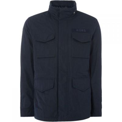 マイケル コース Michael Kors メンズ ジャケット アウター Sueded Nylon Camo Lined 4 Pocket Jacket Navy