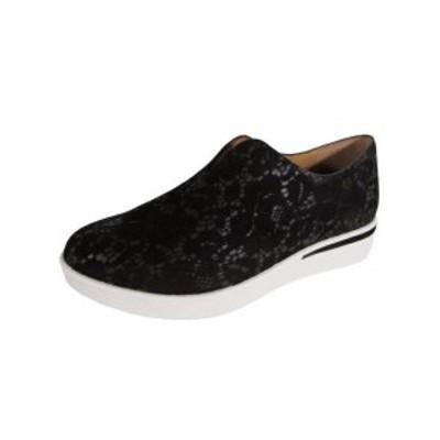 Gentle Souls ジェントルソウルズ スポーツ用品 シューズ Gentle Souls Donna Hanna Pizzo in pelle da Infilare Sneakers Nero US 6.5