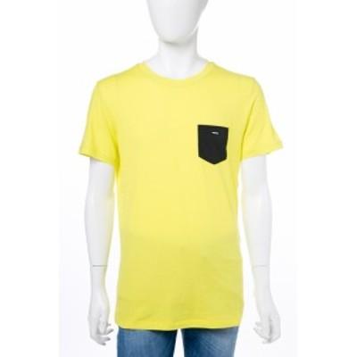 ディーゼル DIESEL Tシャツ 半袖 丸首 メンズ 00CEMG 0IANO イエロー