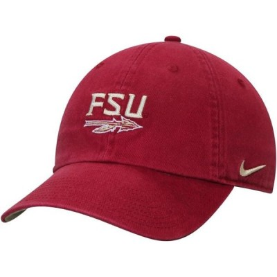 ユニセックス スポーツリーグ アメリカ大学スポーツ Florida State Seminoles Nike Washed Heritage 86 Adjustable Hat - Garnet - OSF
