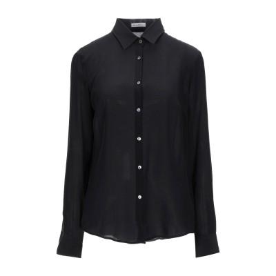 CAMICETTASNOB シャツ ブラック 40 シルク 96% / ポリウレタン 4% シャツ