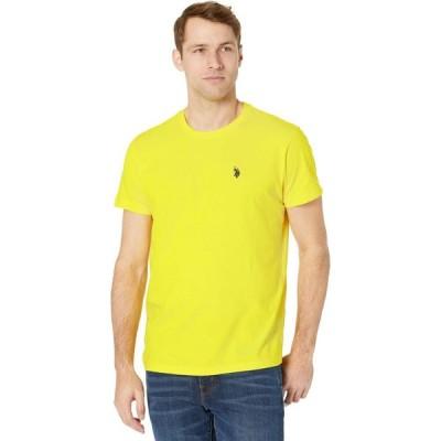ユーエスポロアッスン U.S. POLO ASSN. メンズ Tシャツ トップス Crew Neck Small Pony T-Shirt Sailing Yellow