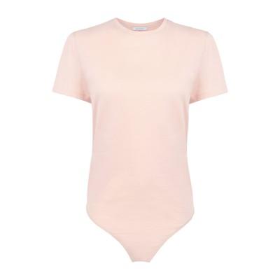 NINETY PERCENT T シャツ ライトピンク S オーガニックコットン 100% T シャツ