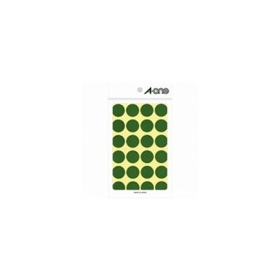 エーワン カラーラベル 緑 (ハガキサイズ・24面×14シート) 07043