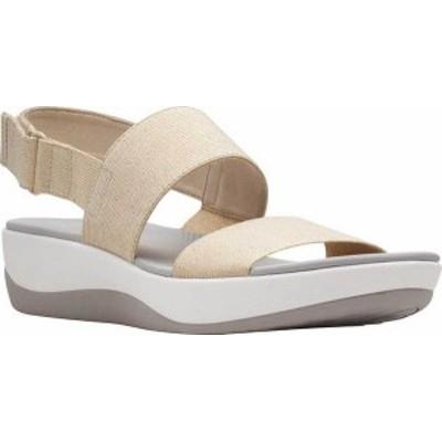 クラークス レディース サンダル シューズ Arla Jacory Slingback Sandal Soft Gold Metallic Textile