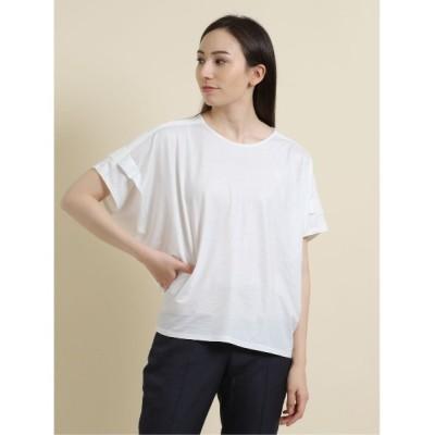 tシャツ Tシャツ エムエフエディトリアルレディース/m.f.editorial:Women ストレッチシフォン 半袖ドルマンプルオーバーTシャツ