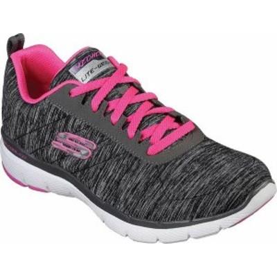 スケッチャーズ レディース スニーカー シューズ Flex Appeal 3.0 Insiders Sneaker Black/Hot Pink