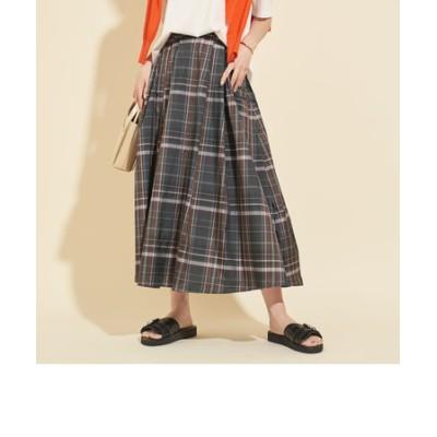 【WEB限定】by∴ タフタチェックマキシスカート