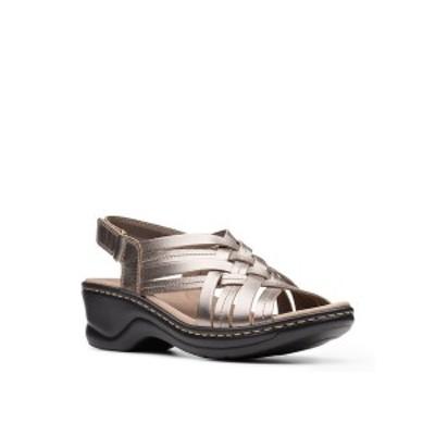 クラークス レディース サンダル シューズ Collection Women's Lexi Carmen Sandal Pewter Metallic Leather