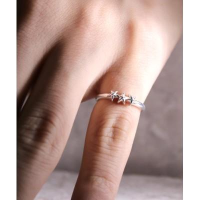 指輪 【YArKA/ヤーカ】star jewelry collecttion 3star simple ring[chast5]/3スターリング