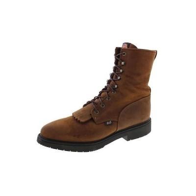 海外セレクション ブーツ シューズ 靴 Justin Original Work ブーツ 6377 メンズ ブラウン Work ブーツ 12 Extra Wide (E+, WW)
