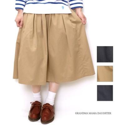 30%OFF セール レディース ロングスカート グランマ ママ ドーター(GRANDMA MAMA DAUGHTER) チノプリーツロングスカートGK001