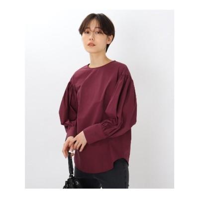 エージー バイ アクアガール AG by aquagirl 【洗える】ボリューム袖ブラウス (ボルドー)