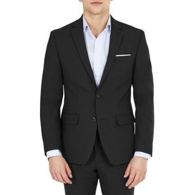 バースリー メンズ ジャケット・ブルゾン アウター Men's Solid Skinny Fit Wrinkle-Resistant Wool Suit Separate Jacket