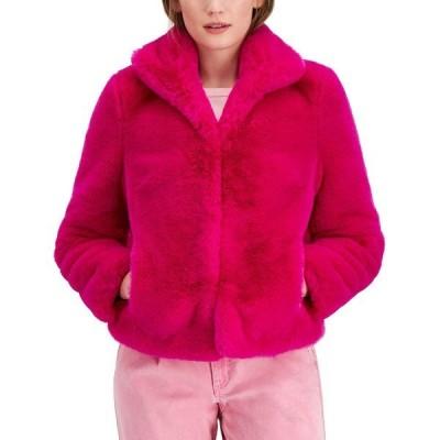 アイエヌシーインターナショナルコンセプト コート アウター レディース INC Faux-Fur Coat, Created for Macy's Fuchsia Pop
