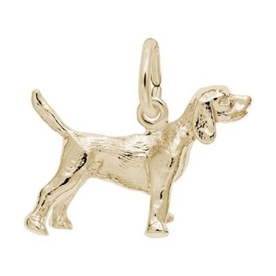Yellow Gold Beagle Dog Charm並行輸入品 送料無料