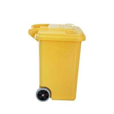 ダルトン プラスチック トラッシュカン ゴミ箱 45リットル 100-146YL イエロー