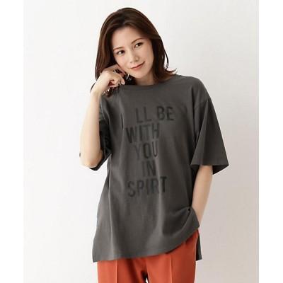 <SHOO LA RUE(Women)/シューラルー>【M-3L】ロゴアソートプリントTシャツ グレー414【三越伊勢丹/公式】