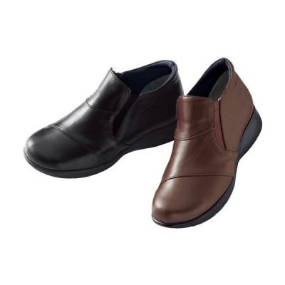 たびらく 牛革 5E 軽量 アンクル ブーツ 22.5cm 23cm 23.5cm 24cm 24.5cm|1347-751681